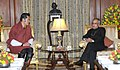The King of Bhutan, His Majesty Jigme Khesar Namgyel Wangchuck meeting the President, Shri Pranab Mukherjee, at Rashtrapati Bhavan, in New Delhi on January 07, 2014.jpg
