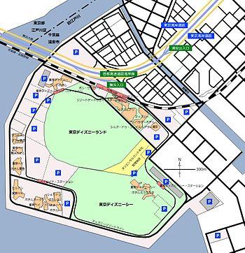 東京ディズニーリゾートの地図