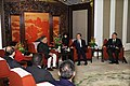 The Minister of State for Environment and Forests (Independent Charge), Shri Jairam Ramesh meeting the Chinese Premier, Mr. Wen Jiabao during his visit to Beijing on November 27, 2009.jpg