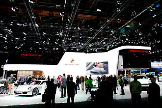 North American International Auto Show - Porsche exhibit stand at the 2012 NAIAS