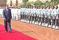 The President of Tajikistan, Mr. Emomali Rahmonov inspecting the guard of honour at Rashtrapati Bhavan, in New Delhi on August 07, 2006.jpg