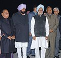 The Prime Minister, Dr. Manmohan Singh received by the Punjab Chief Minister Captain Amarinder Singh on his arrival at the Amritsar Airport, on December 19, 2006.jpg