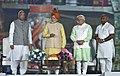 The Prime Minister, Shri Narendra Modi launching the Automation of Fair Price Shops (FPS) in Haryana, at Haryana Swarna Jayanti Celebrations, in Gurugram, Haryana (1).jpg