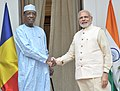 The Prime Minister, Shri Narendra Modi meeting the President of Chad, Mr. Idriss Deby, during the 3rd India Africa Forum Summit, in New Delhi on October 28, 2015.jpg