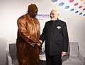 The Prime Minister, Shri Narendra Modi meeting the President of Gambia, Mr. Adama Barrow, on the sidelines of CHOGM 2018, in London on April 19, 2018.JPG