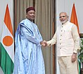 The Prime Minister, Shri Narendra Modi meeting the President of Niger, Mr. Mahamadou Issoufou, during the 3rd India Africa Forum Summit, in New Delhi on October 28, 2015.jpg