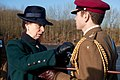 The Princess Royal presents a soldier of the King's Royal Hussars with a medal.jpg