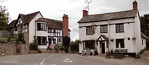 Wigmore, Herefordshire - Image: The Queens House and The Olde Oak, Wigmore (geograph 2037461)
