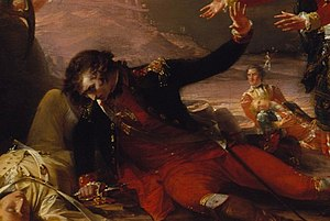 The Sortie Made by the Garrison of Gibraltar - The dying Spanish officer Don Jose de Barboza.