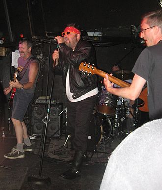 Subhumans (Canadian band) - Gerry, Wimpy, Jon and Mike playing in Montreal, September 2010