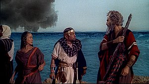 Olive Deering - as Miriam, with Edward G. Robinson and Charlton Heston, in The Ten Commandments (1956)
