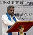 The Union Minister for Textiles, Dr. Kavuru Sambasiva Rao addressing at the foundation stone laying ceremony of New Block of NIFT New Delhi Campus, in New Delhi on January 16, 2014.jpg