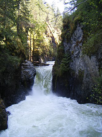 Englishman River - The Englishman River falls
