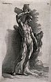 The flayed Marsyas is tied to a tree with his skin hanging o Wellcome V0041709.jpg