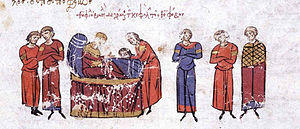 Theophobos - The head of Theophobos is brought to Emperor Theophilos on his deathbed.