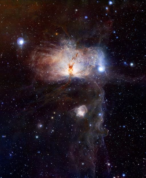 The hidden fires of the Flame Nebula