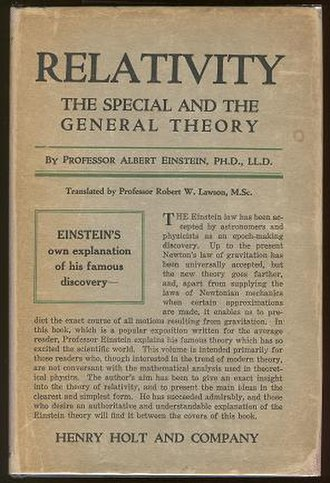Relativity: The Special and the General Theory - The original 1920 English publication of the paper.