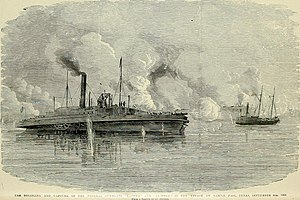 USS Clifton (1861) - Clifton (left) is captured at Sabine Pass along with USS ''Sachem''