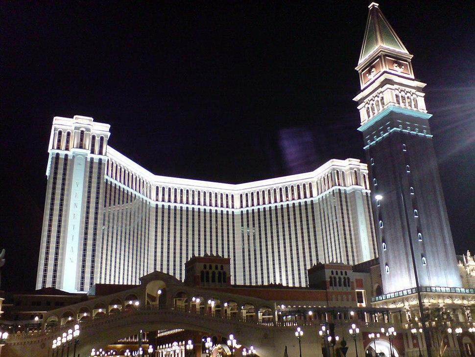 The venetian macao outside night