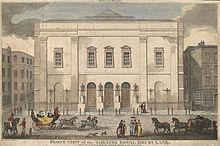 Theatre Royal, Drury Lane, 1812 (Source: Wikimedia)