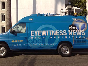 news van. kabc-tv in los angeles
