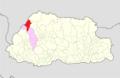 Thimphu Lingzhi Gewog Bhutan location map.png