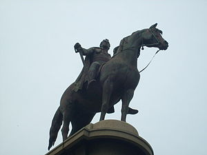 Statue of Thomas Munro - Thomas Munro and his horse