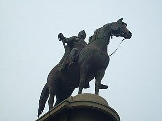 Statue of Thomas Munro - Thomas Munro and his horse