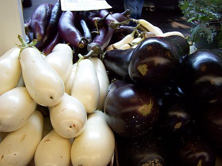 Three varieties of eggplant. - Eggplant