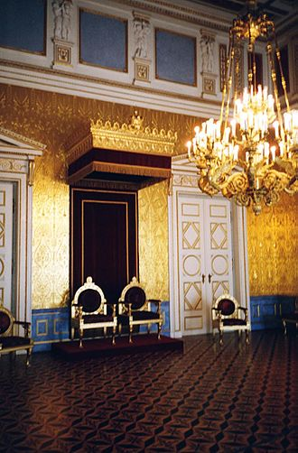 Throne room - Thrones of the king and queen, Residenz of Munich, Bavaria