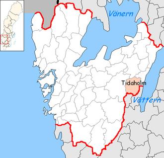 Tidaholm Municipality - Image: Tidaholm Municipality in Västra Götaland County