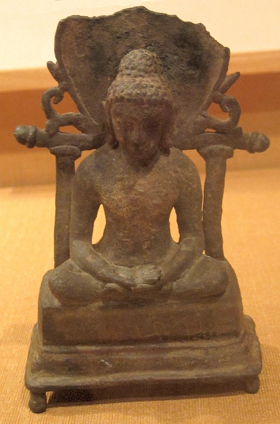 Tirthankara, India, Akota, Gujarat, 7th century, bronze, HAA