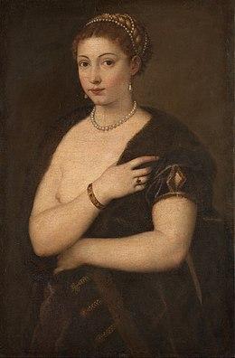 Jeune Femme A La Fourrure Titien Wikipedia
