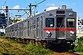 Tokyu 7700 series Tōkyū Ikegami Line 20170711.jpg