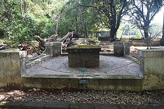 Sakthan Thampuran - Tomb of Ramavarma Sakthan Thamburan, king Kochi. Monument in palace Toppu (Vadakkechira Palace compound)