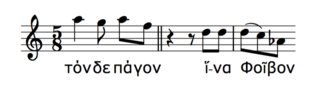 Phrases from Greek music showing lack of downtrend