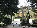 Torii of Sumiyoshi Shrine and Sumiyoshi Park.jpg