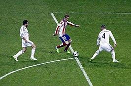 Torres in partita in Copa Del Rey contro il Real Madrid nella stagione 2014-2015