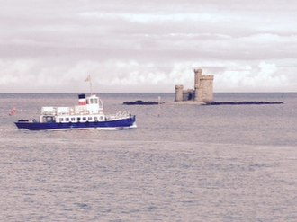 St Mary's Isle - The pleasure cruiser MV Karina, under the command of Capt. Stephen Carter, passes the Conister Rock.