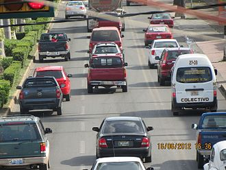 Tapachula - Traffic jam at Tapachula de Córdova y Ordóñez