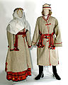 Traditional winter clothing of Belarusian peasants - XIXth cent - Museum of Belarusian Folk Art.jpg