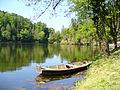 Trakostyán-A vár melletti tó.JPG