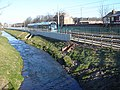 Tram and river Leen in Old Basford Nottingham - geograph.org.uk - 306641.jpg