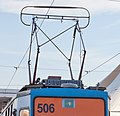 Tram in Sofia in front of Central Railway Station 2012 PD 088.jpg