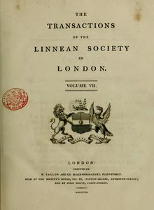 Transactions of the Linnean Society of London, Volume 7 (1804).djvu