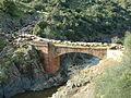 Transhumancia sobre el puente de Arenoso en Montoro antes de la inudación.JPG