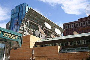 Media in Minneapolis–St. Paul - WCCO-TV satellite dishes Minneapolis