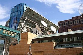 Media in Minneapolis–St. Paul - WCCO-TV satellite dishes Minneapolis
