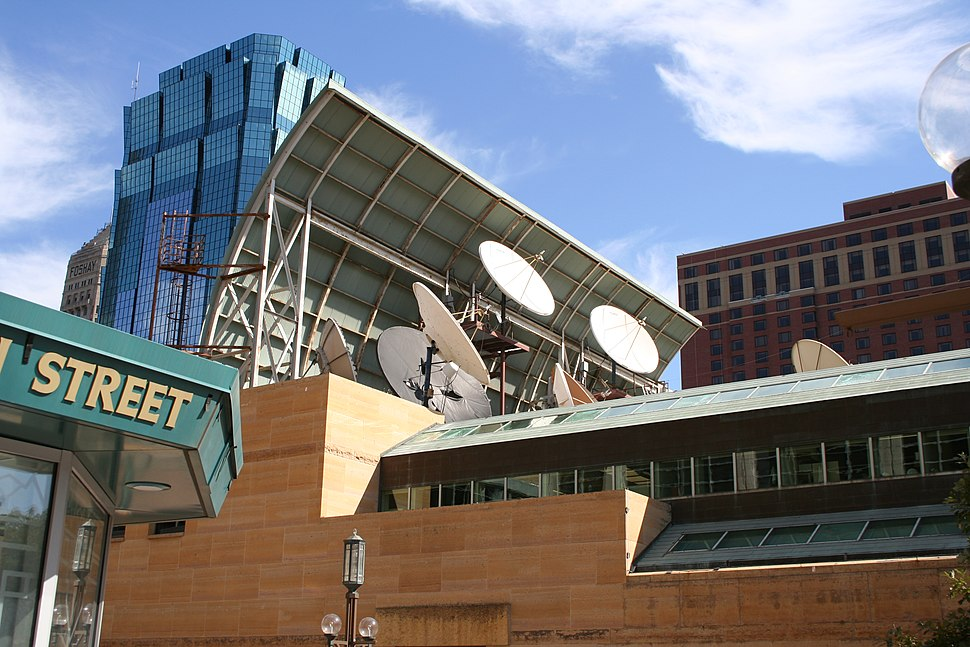 Transmitters-downtown-Minneapolis