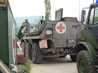 Joint Medical Service (Germany) - Vehicle of the Sanitätsdienst during KFOR